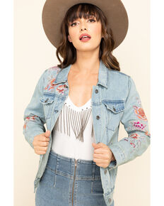 Johnny Was Women's Caelynn Denim Jacket, Blue, hi-res