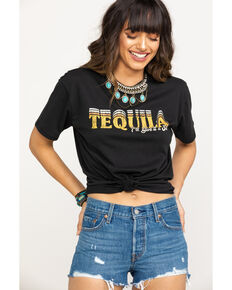 White Crow Women's Retro Tequila Graphic Tee, Black, hi-res