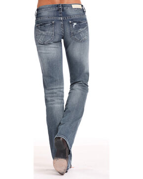 Rock & Roll Cowgirl Women's Crossing Seams Jeans - Boot Cut , Indigo, hi-res