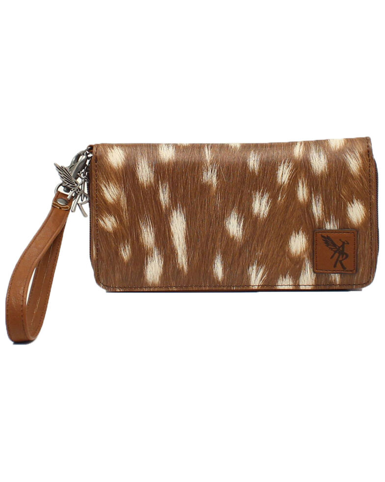 Angel Ranch Women's Cell Phone Wallet, Brown, hi-res