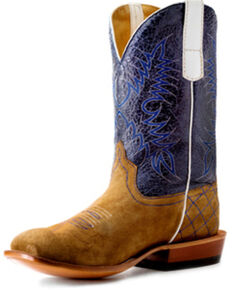 Horse Power Youth Boys' Sahara Sand Western Boots - Square Toe, Sand, hi-res