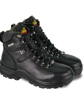 "Thorogood Men's 6"" Omni Waterproof Work Boots - Steel Toe, Black, hi-res"