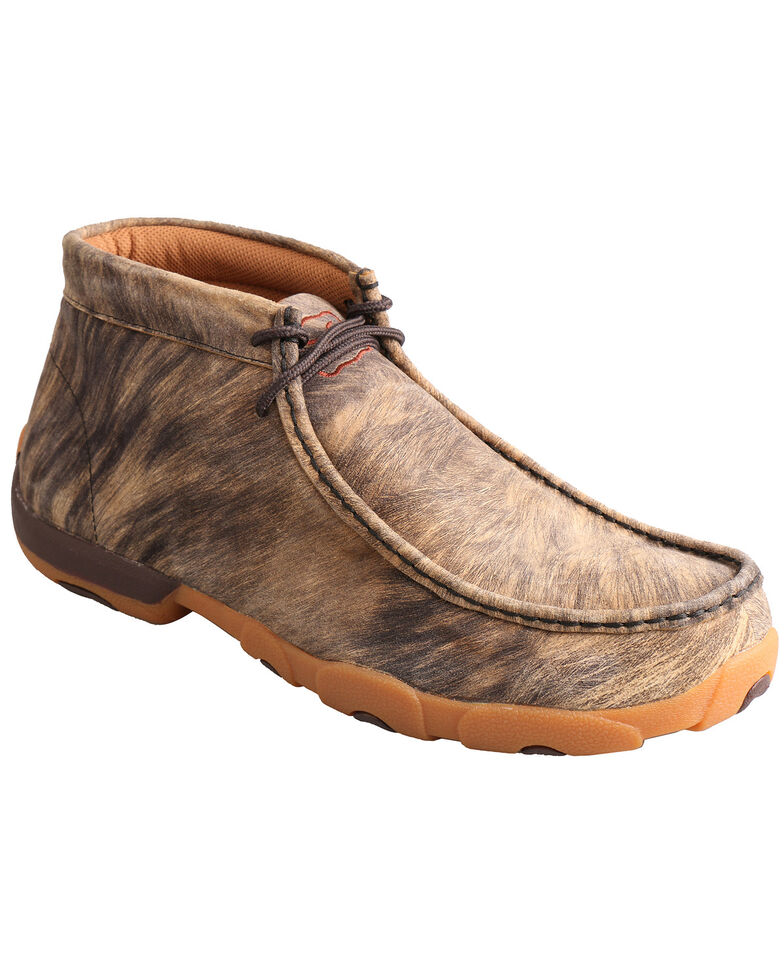 Twisted X Men's Hyena Driving Mocs, Distressed, hi-res