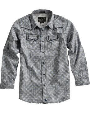 Cody James® Boys' Diamond Printed Western Long Sleeve Shirt, Grey, hi-res