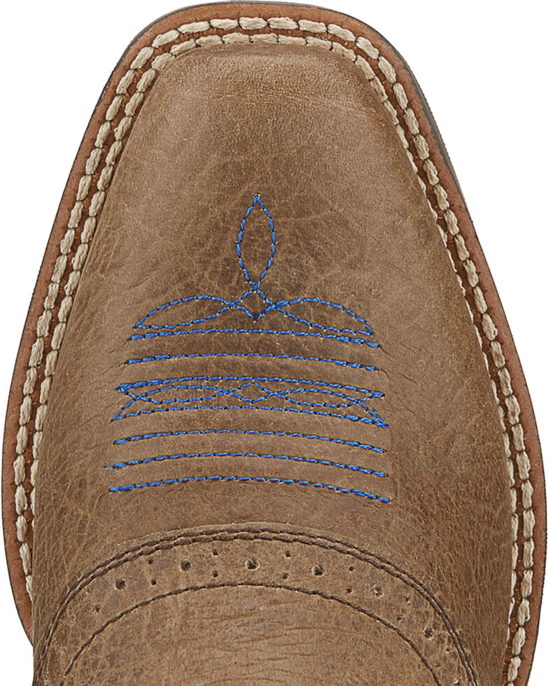 Ariat Kids' Roughstock Boots - Square Toe, Earth, hi-res