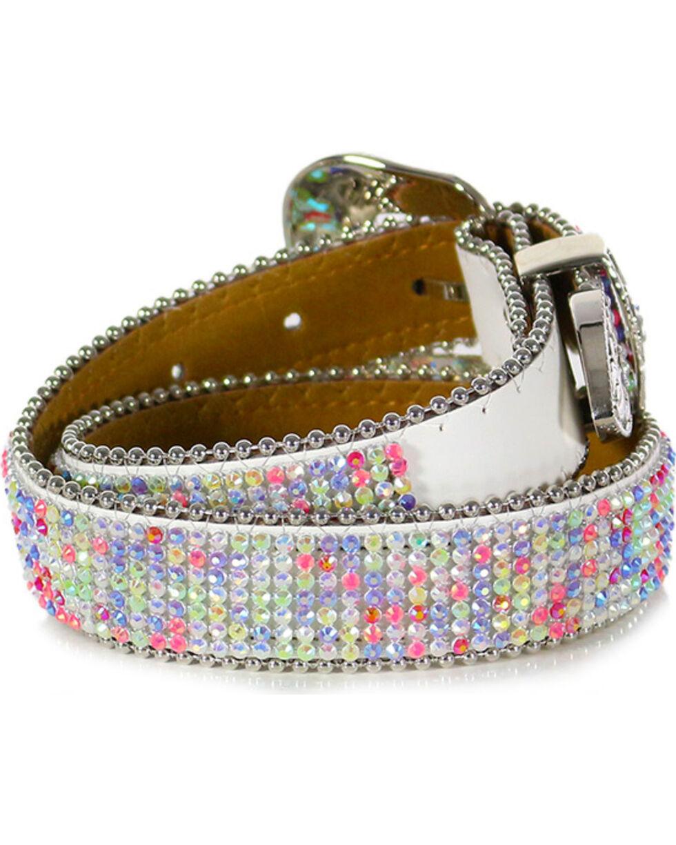 Shyanne® Girl's Rhinestone Studded Belt, Multi, hi-res