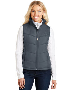 Port Authority Women's Dark Slate 3X Puffy Vest - Plus, Multi, hi-res