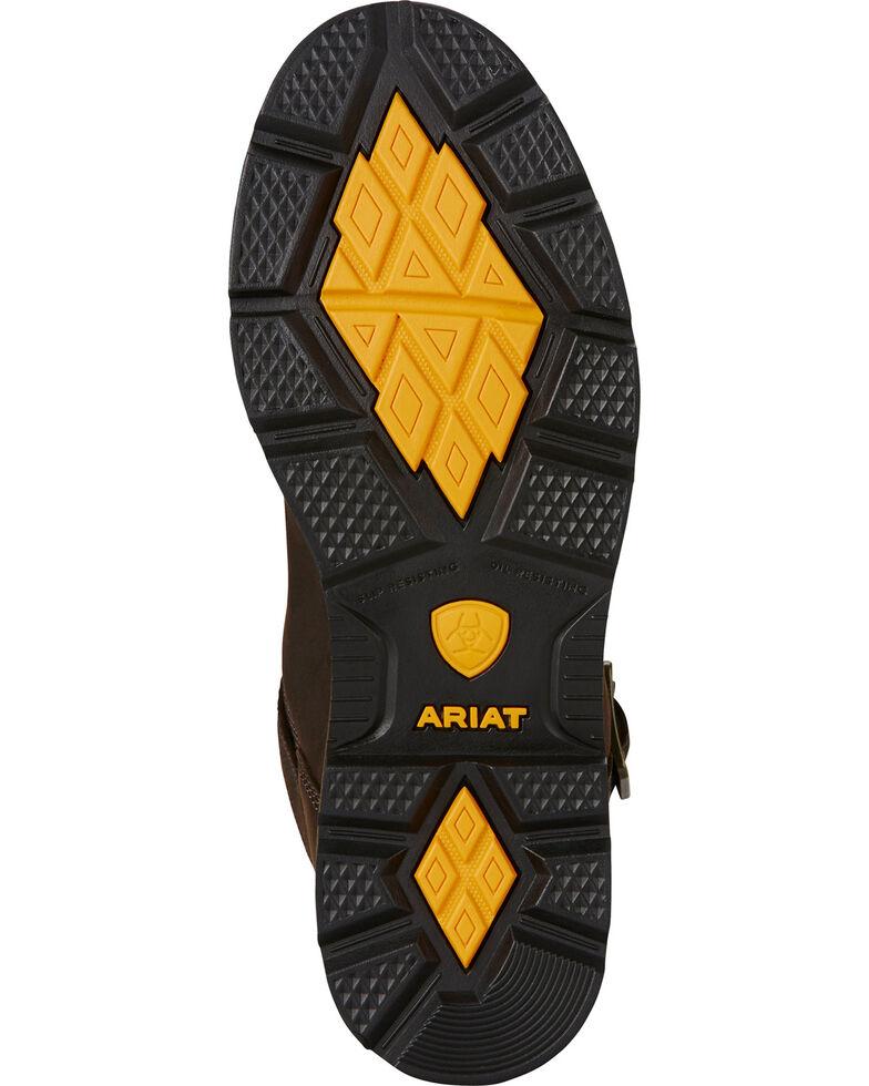 Ariat Men's Waterproof Steel Toe Groundbreaker Work Boots, Dark Brown, hi-res
