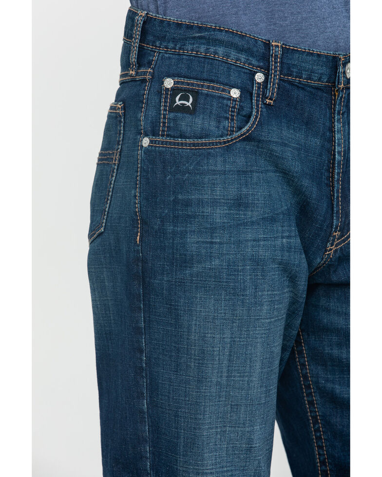 Cinch Men's Black Label Original Loose Dark Tapered Jeans , Indigo, hi-res