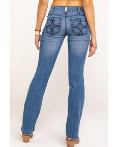 Ariat Women's Shawna R.E.A.L. Bootcut Jeans, Blue, hi-res