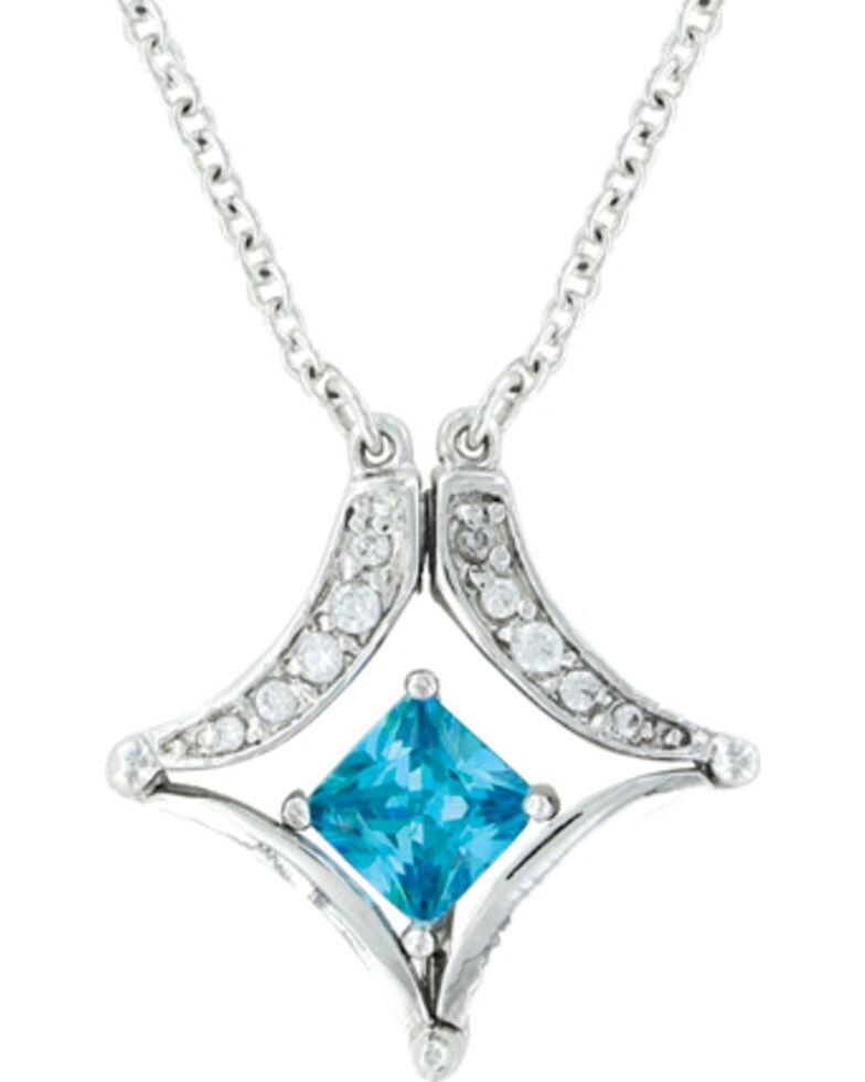 Montana Silversmiths Convertible Blue Diamond River Lights Necklace, Silver, hi-res