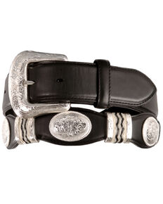 Tony Lama Unisex Cutting Champ Belt, Black, hi-res