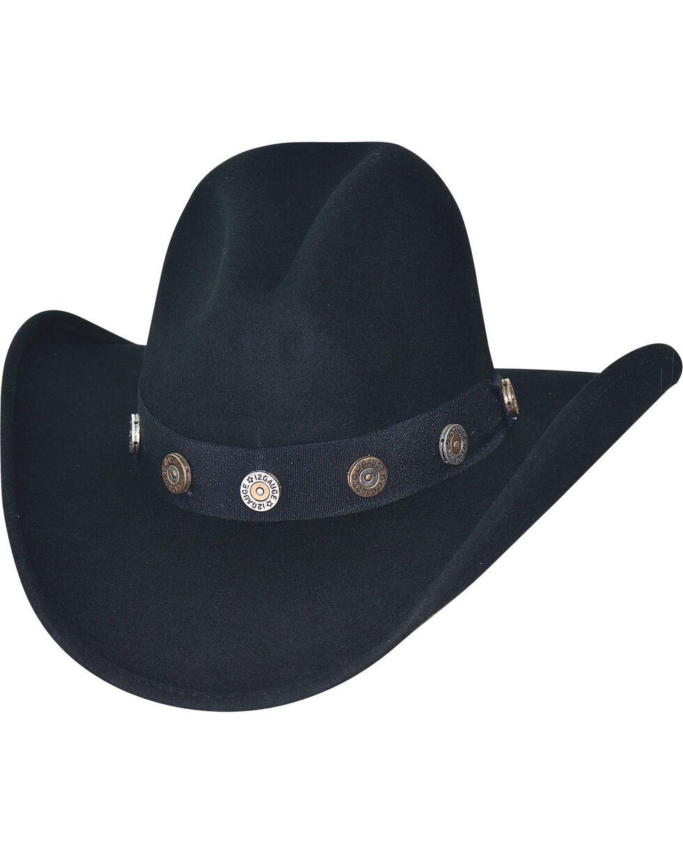 Bullhide Men's Shotgun Premium Wool Cowboy Hat, Black, hi-res