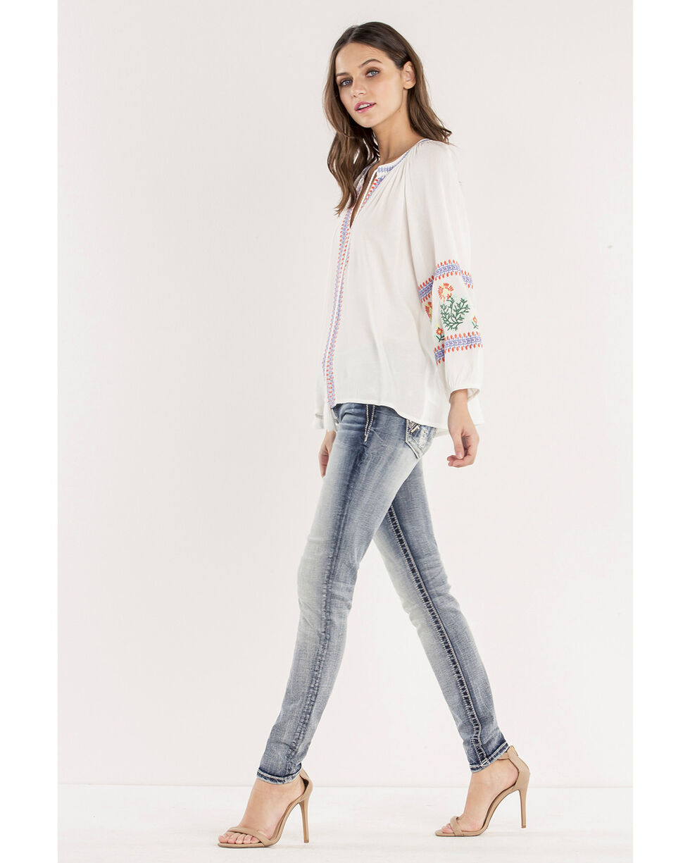 Miss Me Women's After Party Mid-Rise Ankle Skinny Jeans, Indigo, hi-res