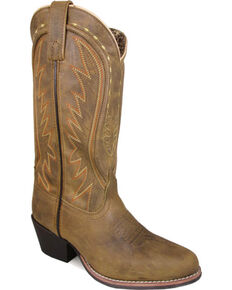 Smoky Mountain Women's Tan Sienna Leather Boots - Round Toe  , Tan, hi-res