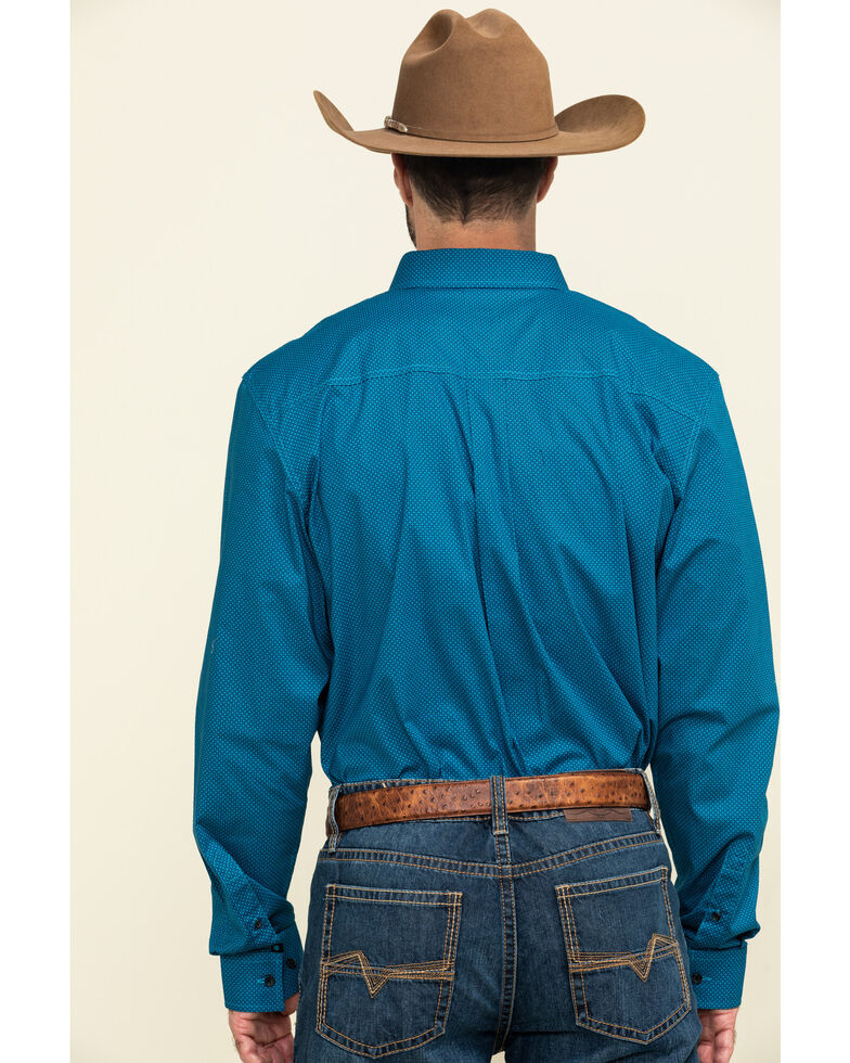 Cody James Core Men's Ringfield Micro Geo Print Long Sleeve Western Shirt , Black, hi-res