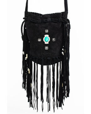 Idyllwind Women's Good, Gone, and Movin' Suede Bucket Bag, Black, hi-res