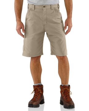 Carhartt Men's Canvas Carpenter Work Shorts, Tan, hi-res