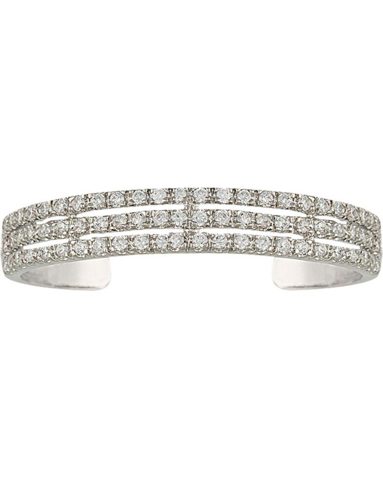 Montana Silversmiths Women's Triple the Delight Cuff Bracelet, Silver, hi-res