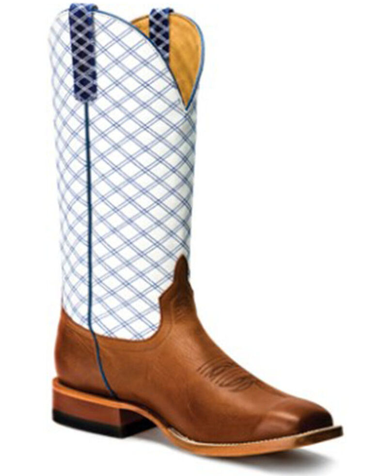 HorsePower Men's Sugared Brass Western Boots - Wide Square Toe, Tan, hi-res