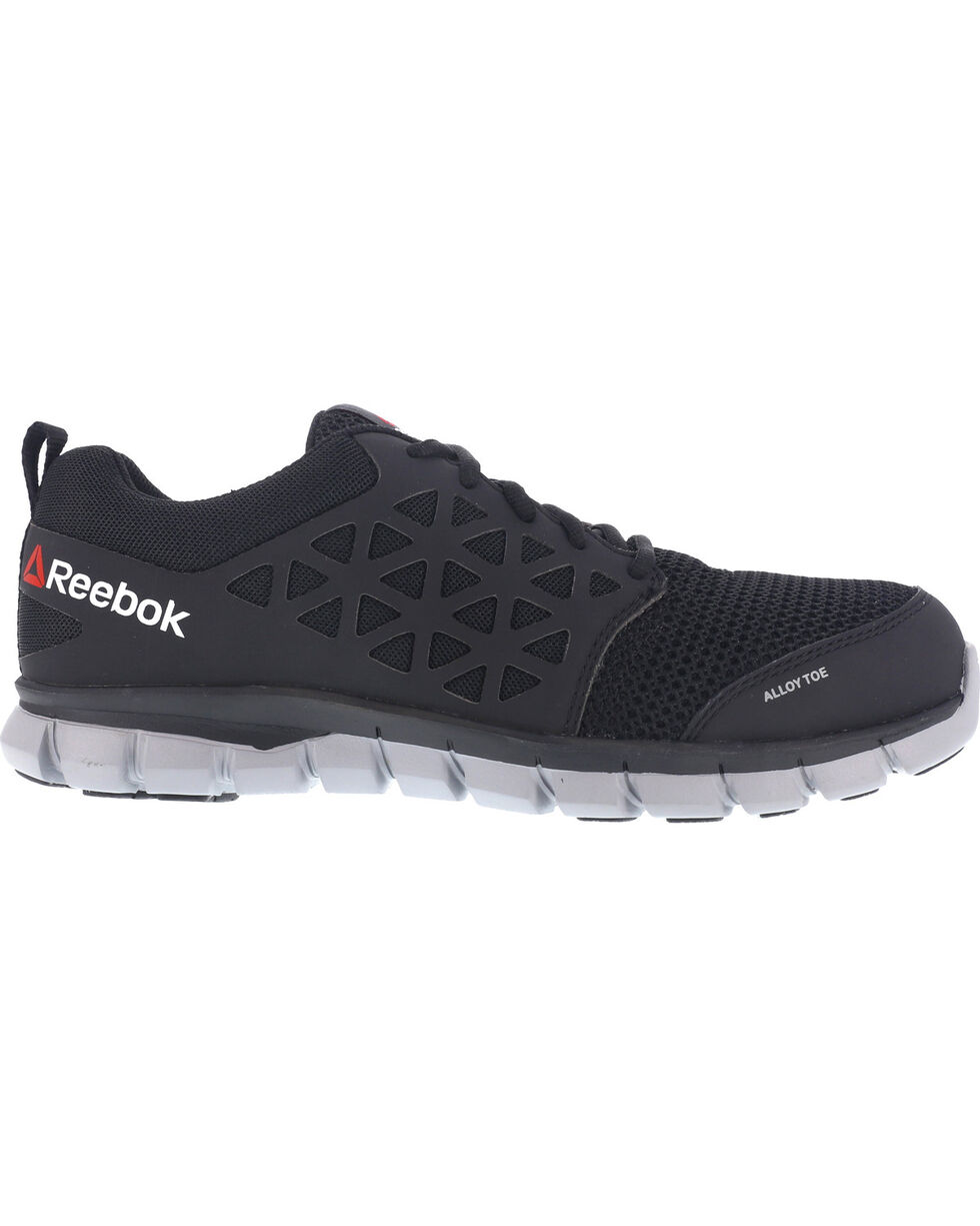 Reebok Women's Sublite Cushion Athletic Work Oxfords - Alloy Toe, Black, hi-res