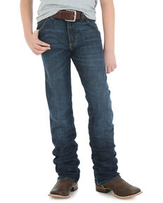 Wrangler Retro Boys' Portland Slim Straight Jeans, Blue, hi-res