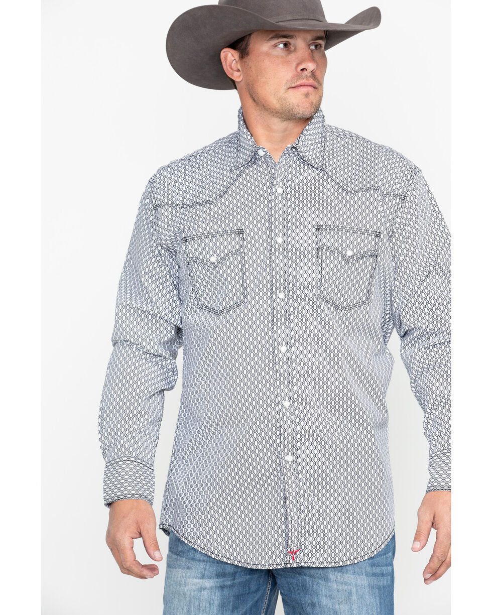 Wrangler 20X Men's Black Competition Advancaed Long Sleeve Western Shirt, Black, hi-res