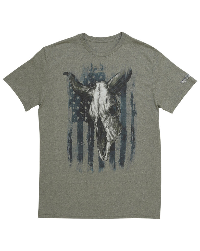 Wrangler Men's Americana Bull Skull Graphic Short Sleeve T-Shirt, , hi-res