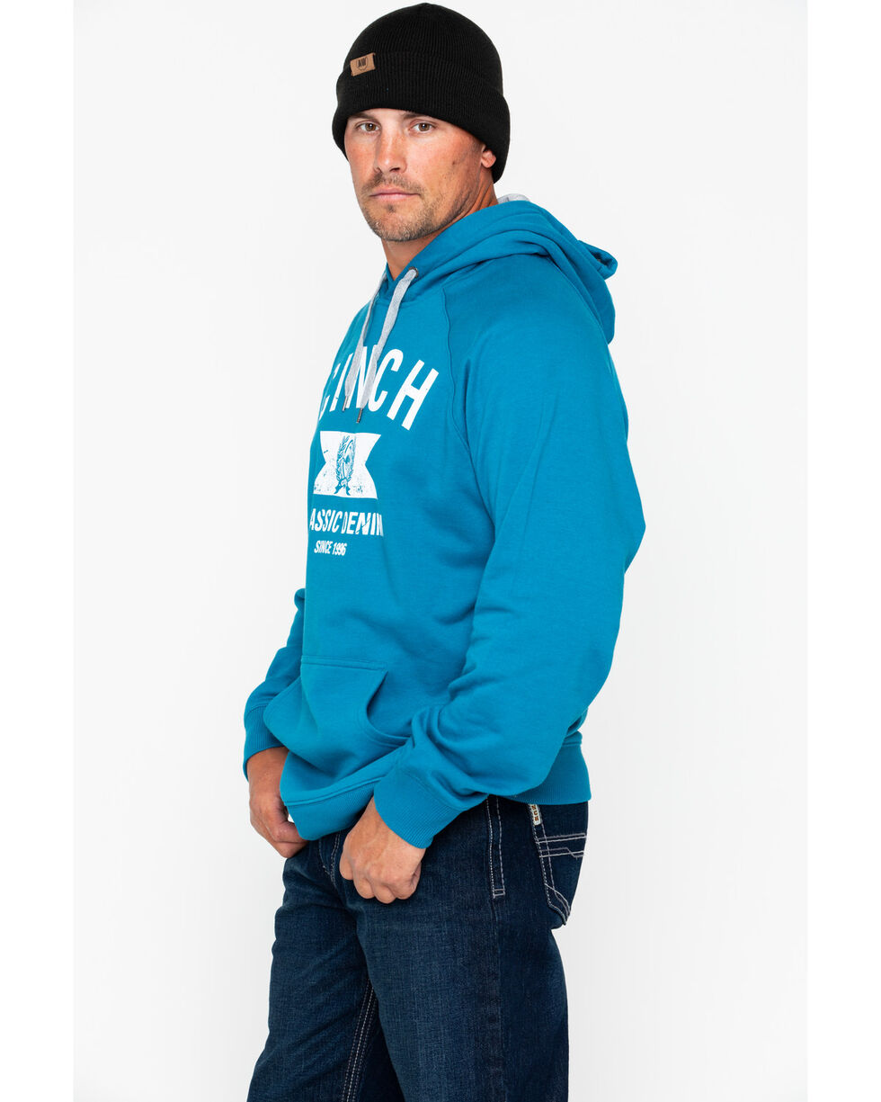 Cinch Men's Blue Graphic Fleece Hoodie, Blue, hi-res