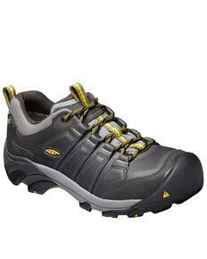 Keen Men's Boulder Waterproof Work Boots - Steel Toe, Yellow, hi-res