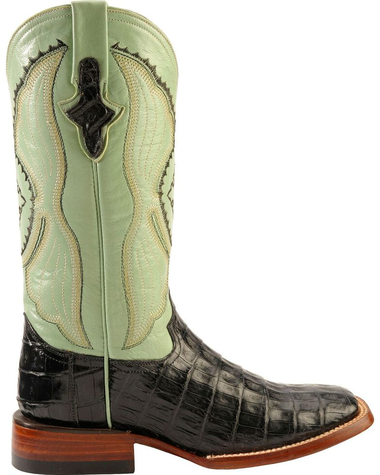 Ferrini Caiman Belly Cowgirl Boots - Wide Square Toe, , hi-res