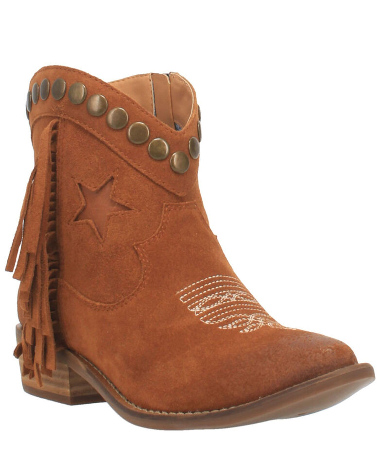 Dingo Women's Lonestar Fashion Booties - Snip Toe, Brown, hi-res