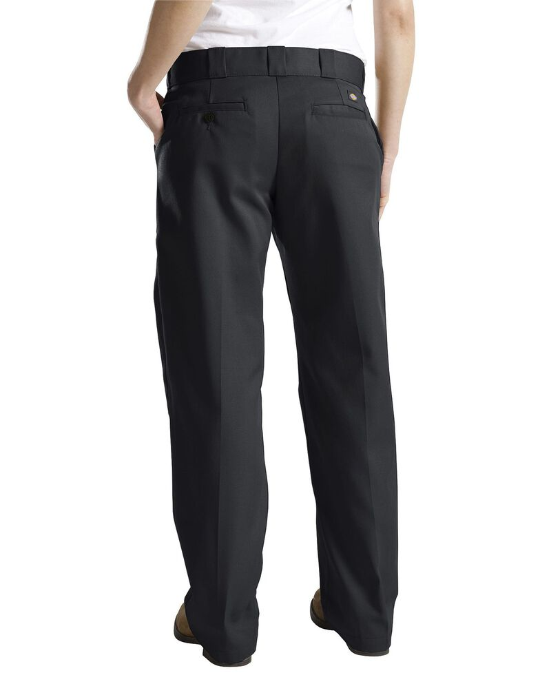 Dickies Women's Classic Straight Leg Twill Pants, Black, hi-res