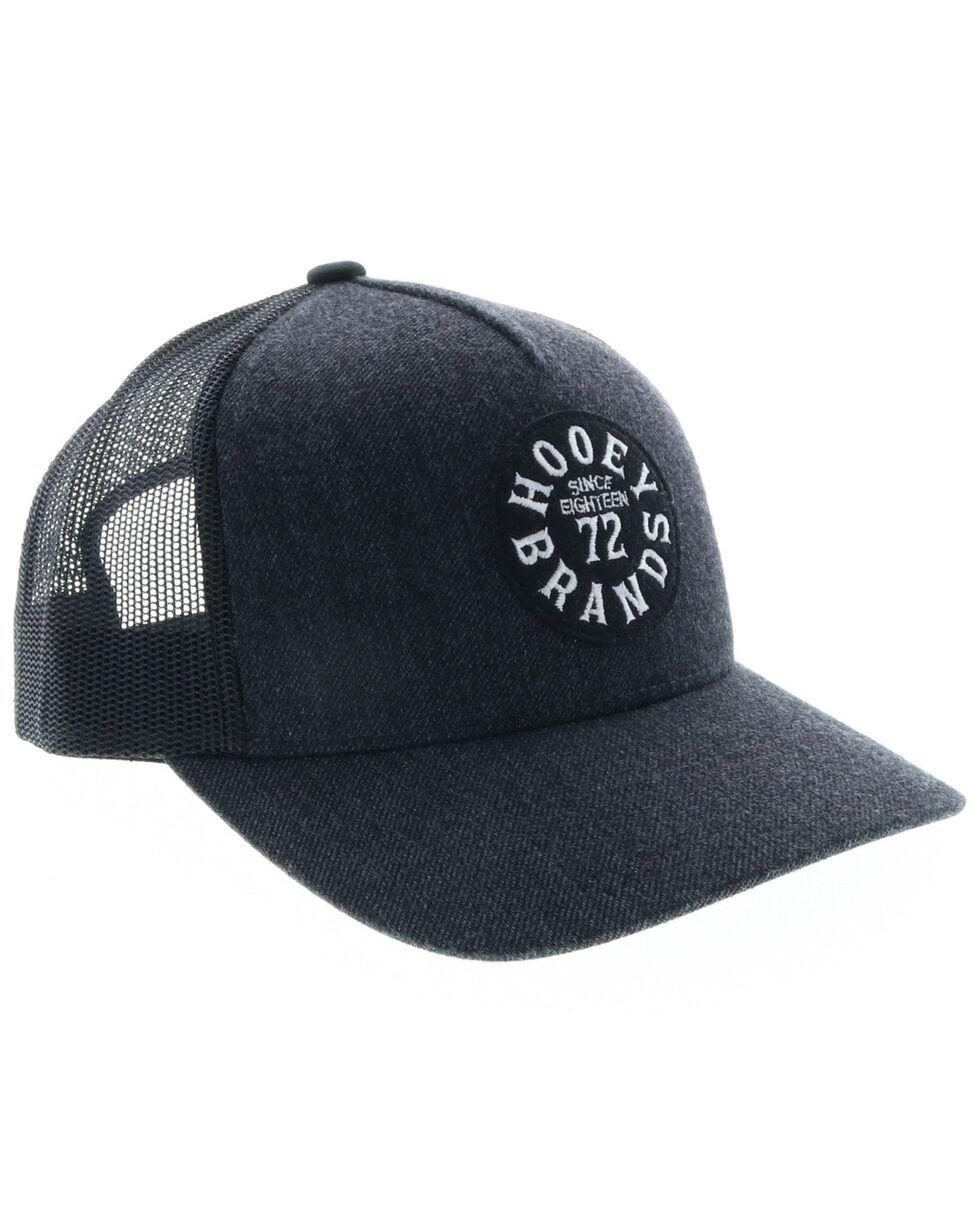 HOOey Men's Pioneer Circle Trucker Cap, Black, hi-res