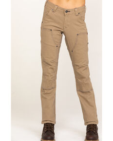 Dovetail Women's Britt Utility Stretch Duck Canvas Straight Pants, Natural, hi-res