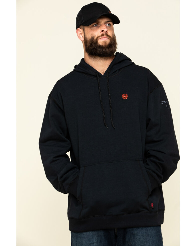Cinch Men's FR Black Pullover Hooded Work Sweatshirt , Black, hi-res