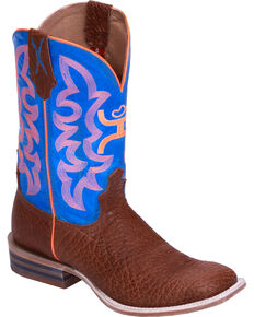 HOOey by Twisted X Men's Square Toe Western Boots, Cognac, hi-res