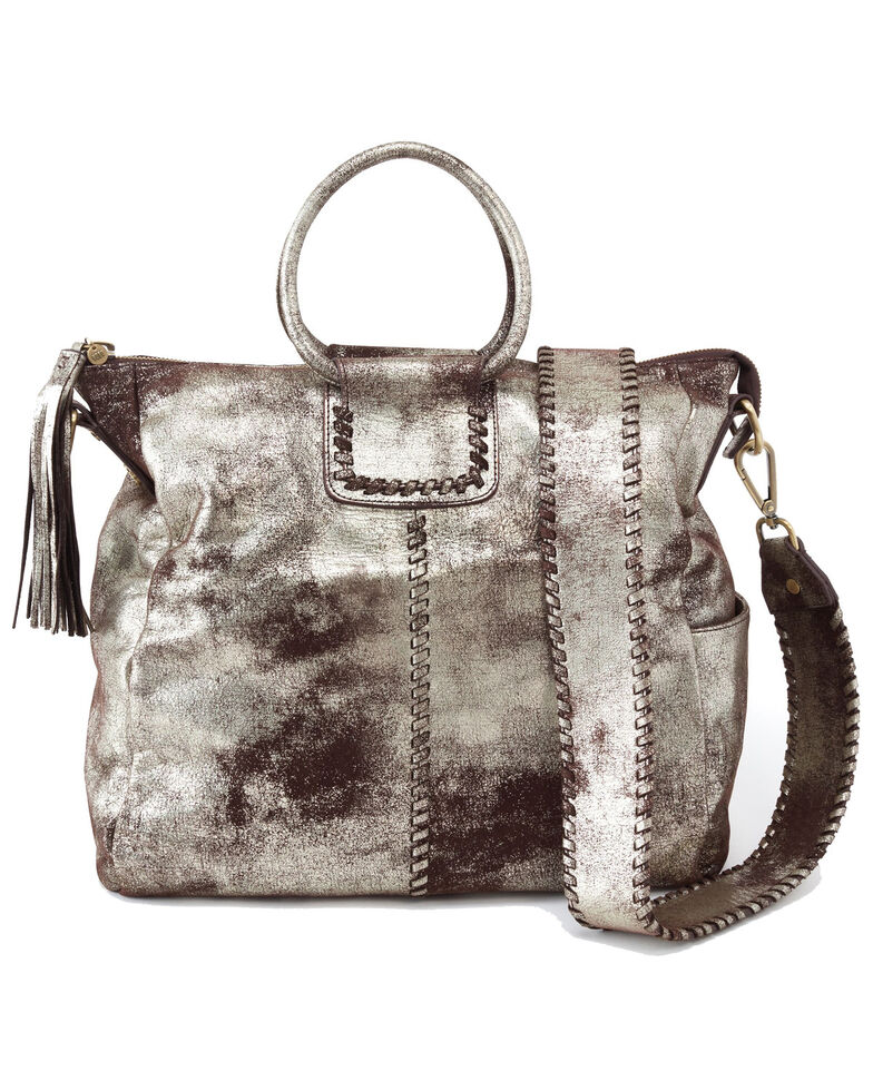 Hobo Women's Sheila Metallic Vintage Hide Handbag , Silver, hi-res