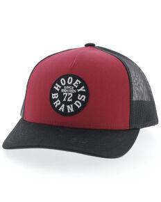HOOey Men's Red Pioneer Mesh Ball Cap , Red, hi-res