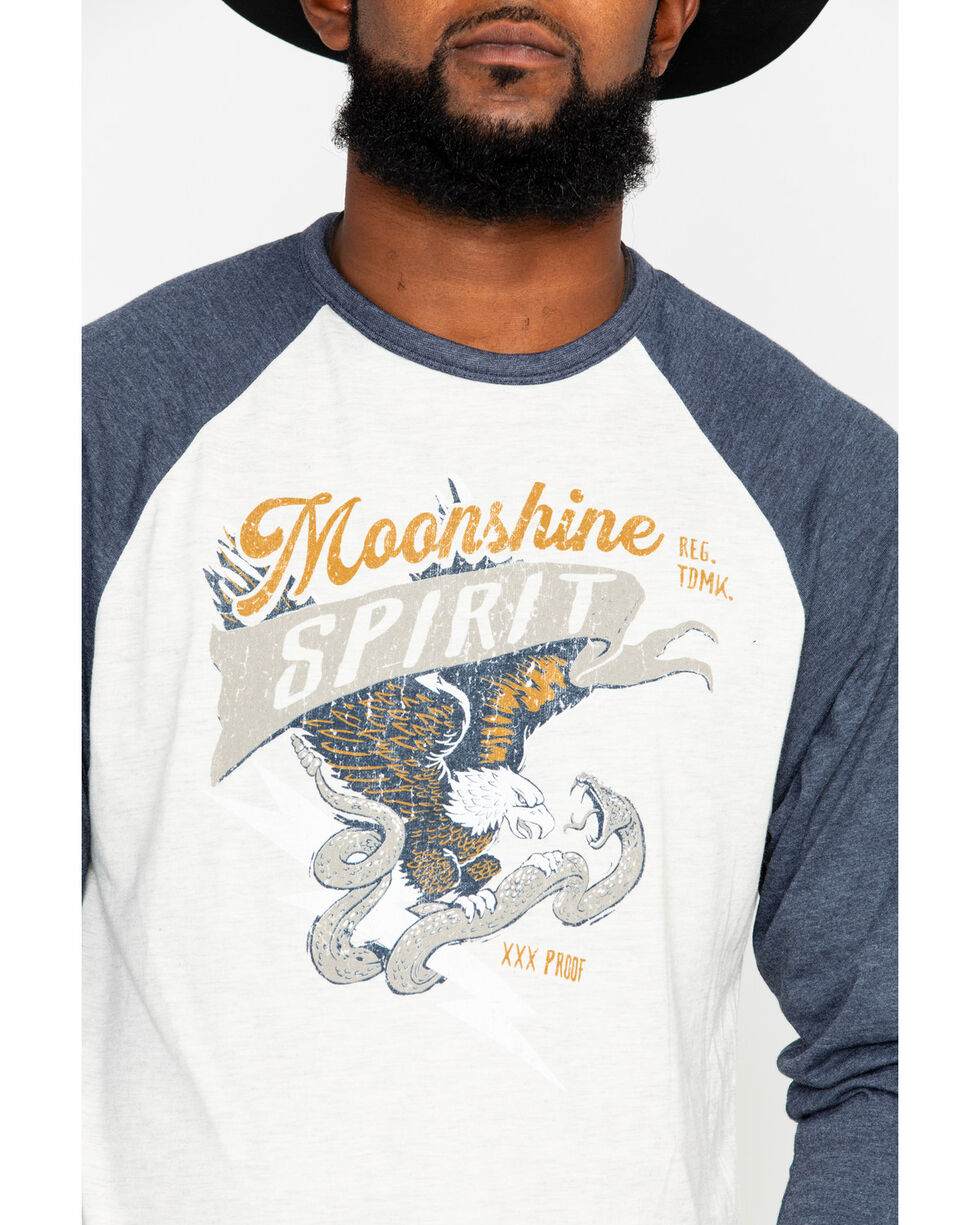 Moonshine Spirit Men's Freedom Eagle T-Shirt, Navy, hi-res