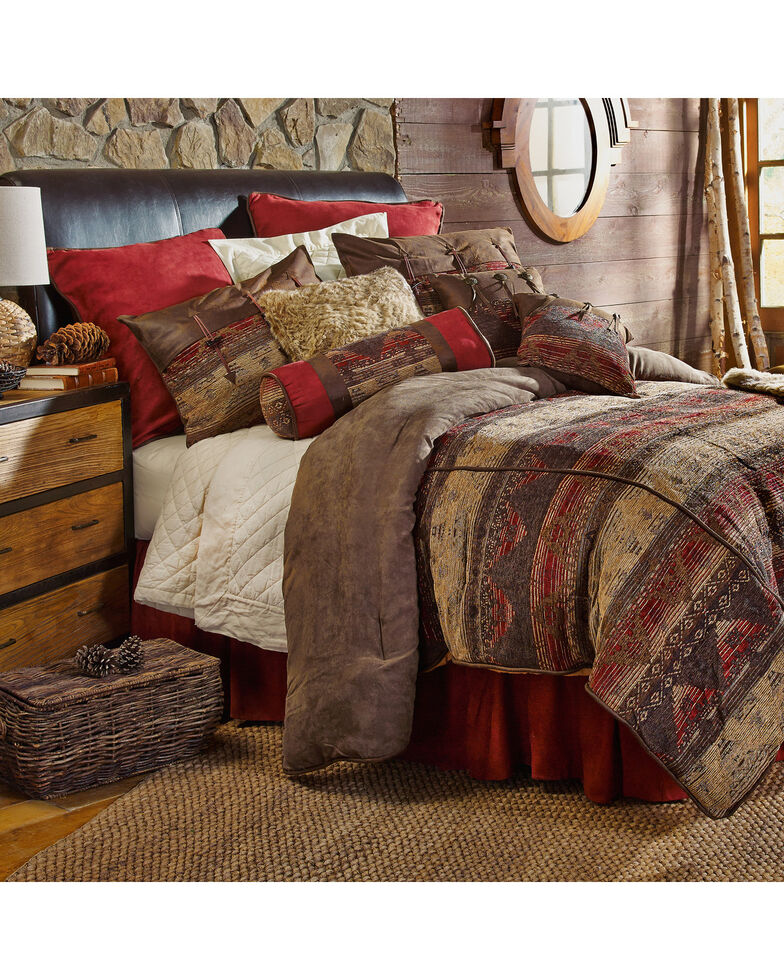 HiEnd Accents 7-Piece King Luxury Chenille Suede Sierra Bedding Set, Multi, hi-res