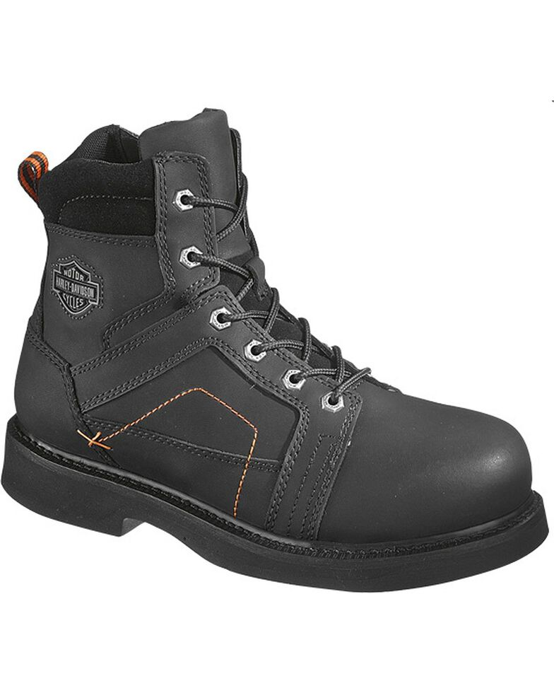 Harley-Davidson Men's Pete Steel Toe Lace Up Motorcycle Boots, , hi-res