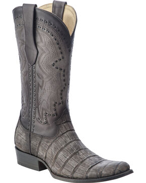 Corral Men's Alligator Round Toe Exotic  Boots, Grey, hi-res