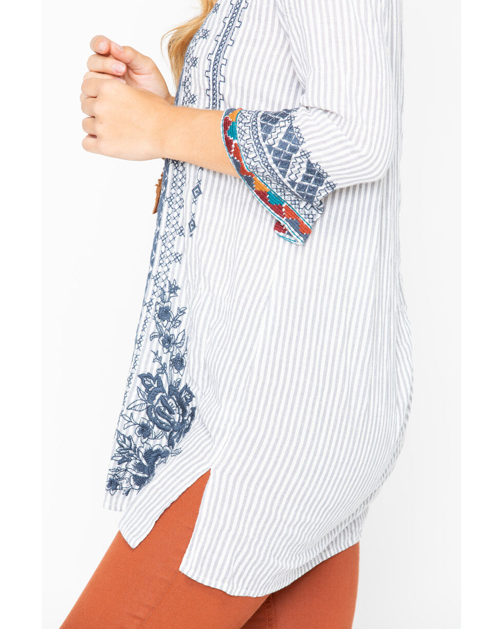 Johnny Was Women's Tahndi Kaftan Tunic Shirt , Multi, hi-res