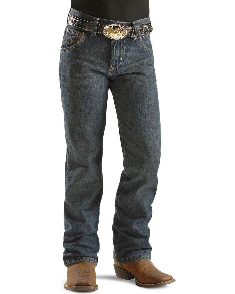 Wrangler Boy's Retro Relaxed Fit Boot Cut Jeans, Denim, hi-res