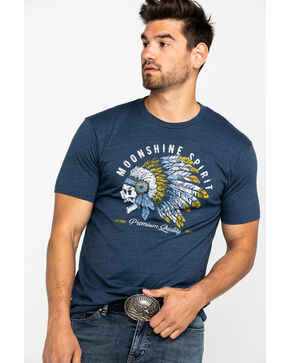 Moonshine Spirit Men's Feather Graphic T-Shirt , Navy, hi-res