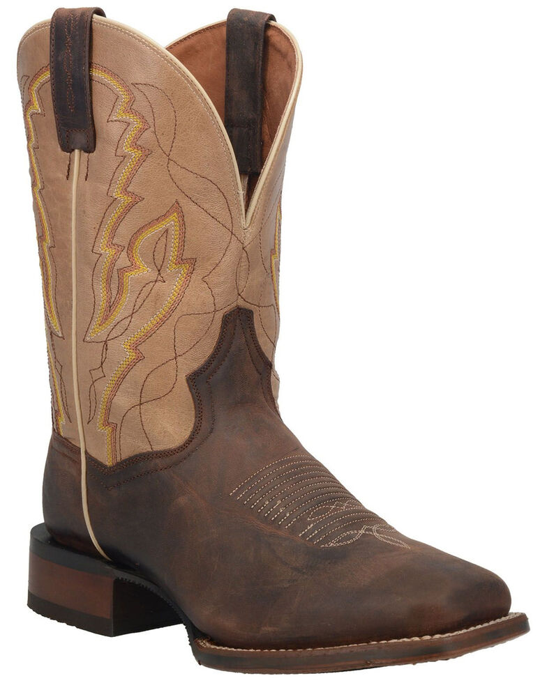 Dan Post Men's Garrison Western Boots - Wide Square Toe, Brown, hi-res