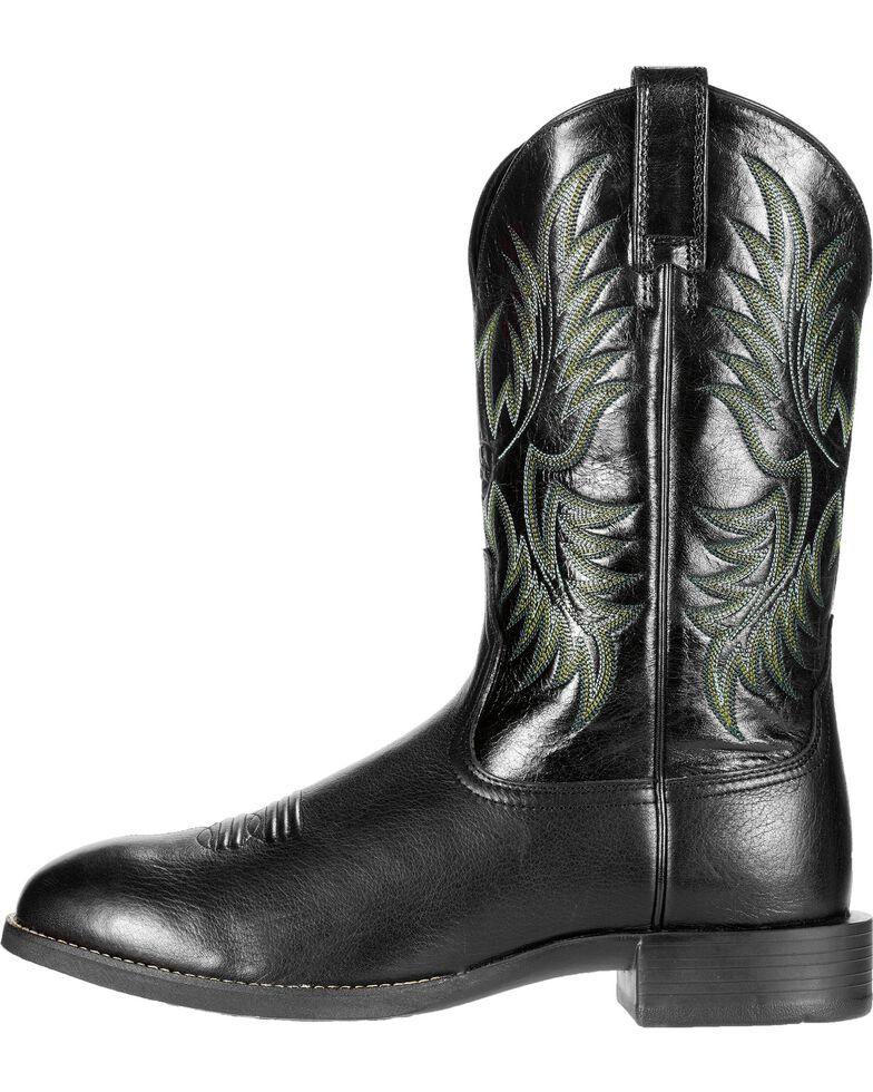 Ariat Men's Heritage Stockman Round Toe Western Boots, Black, hi-res