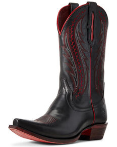 Ariat Women's Tailgate Black Western Boots - Snip Toe, Black, hi-res