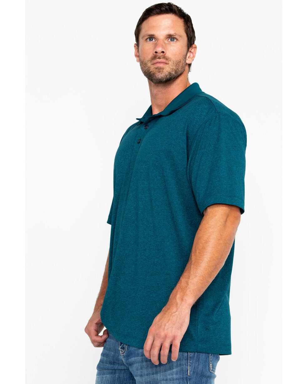 Cody James Men's Aqua Short Sleeve Polo Shirt, Aqua, hi-res